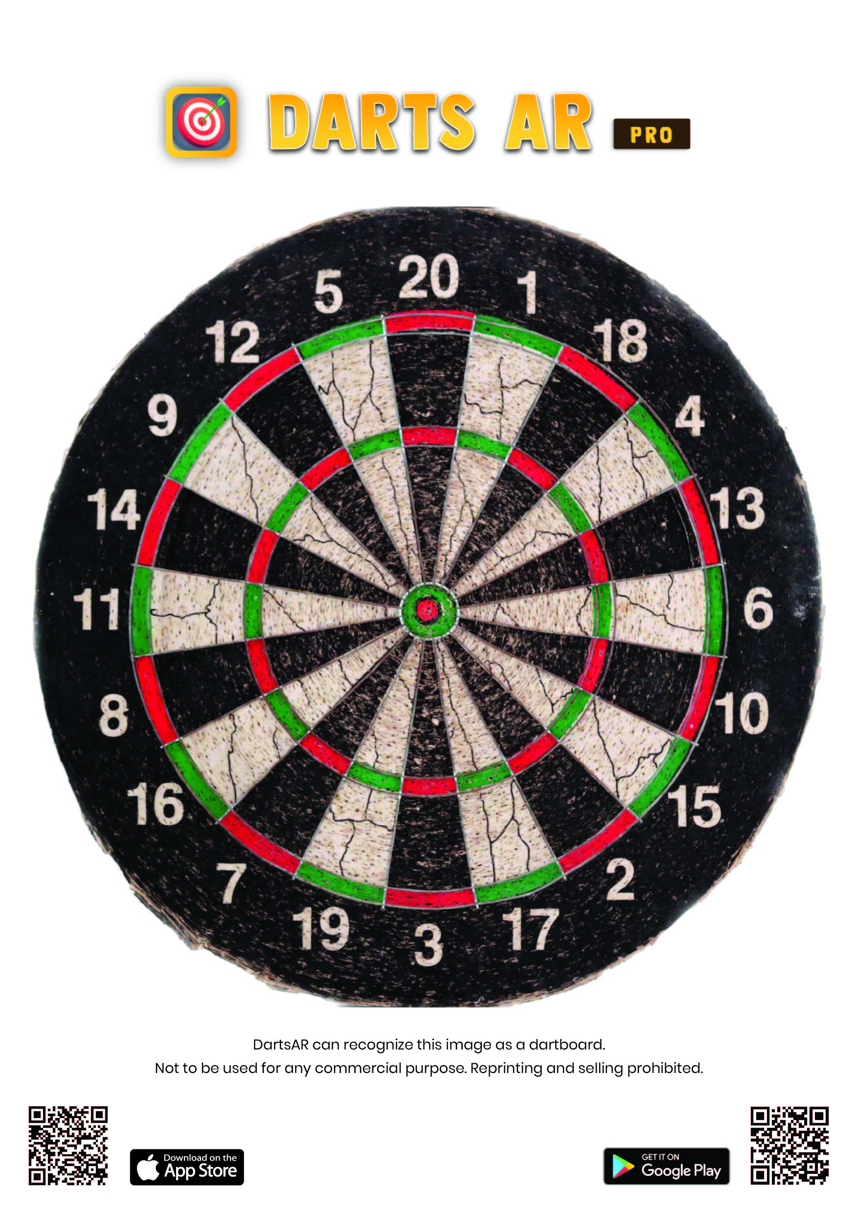 picture relating to Printable Dart Board identified as DartsAR